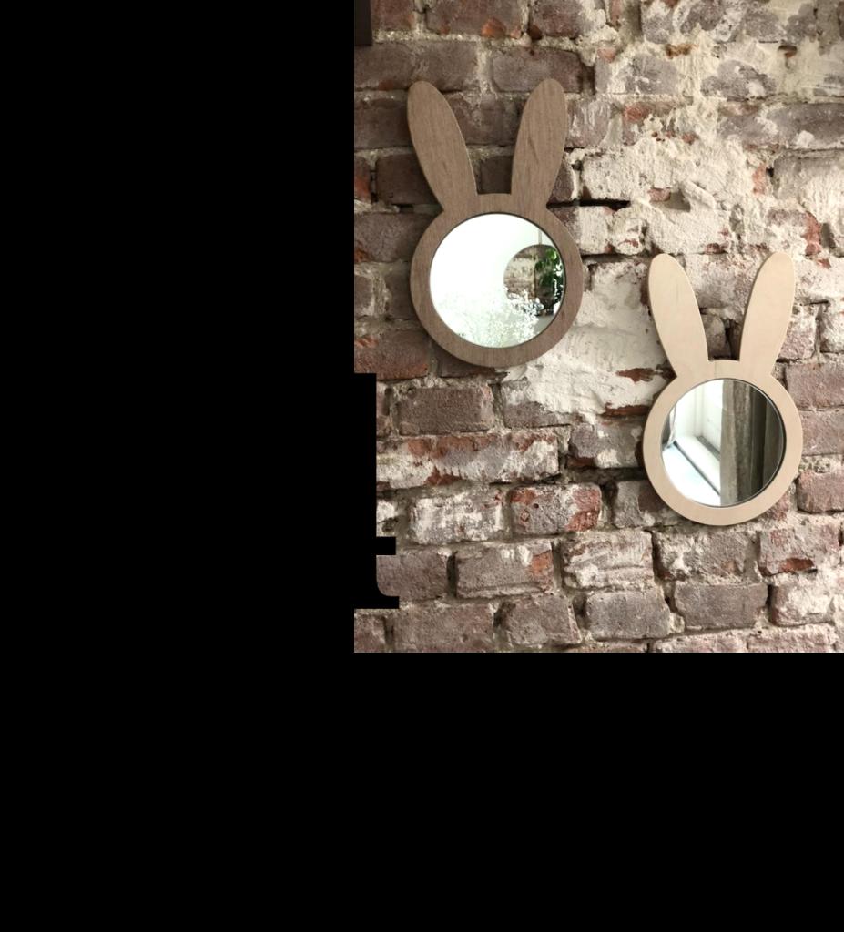 Kraamcadeau babykamer - konijnenspiegels
